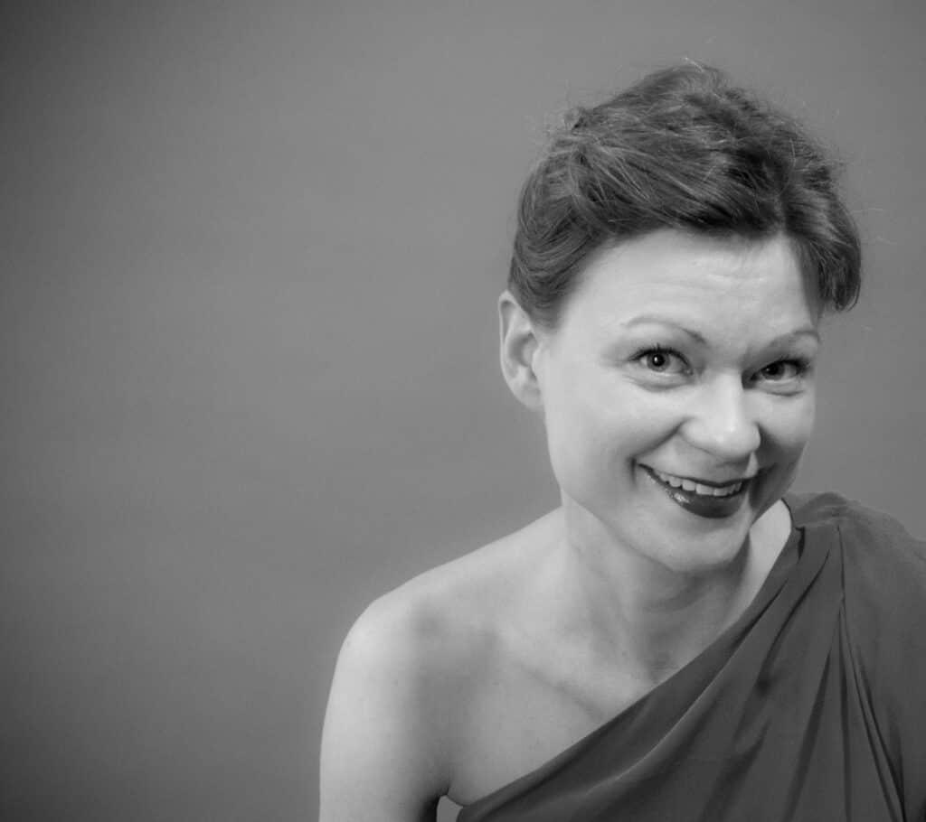 Porträttbild av sopran Petra Valman