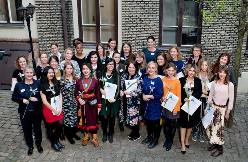 Picture from when Petra Valman received the Iris Scholarship in Gothenburg together with other women